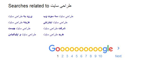 عکس از google suggesttion