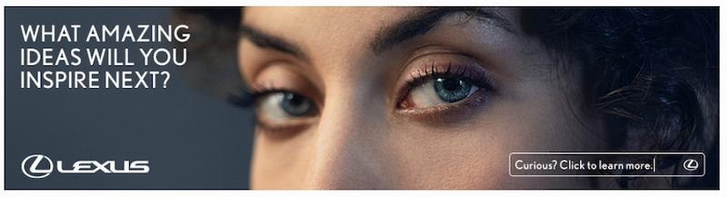 تبلیغ کلیکی لکسوس از تصویر چشم برای جلب نگاه مخاطبان